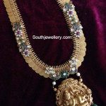 Unique Kasu Haram with Lord Krishna Pendant