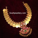 Kasu Necklace with Ruby Pendant