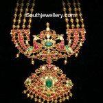 Gundla Mala with Kundan Peacock Pendant