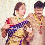 Lakshmi Manchu in Polki Diamond Jewellery
