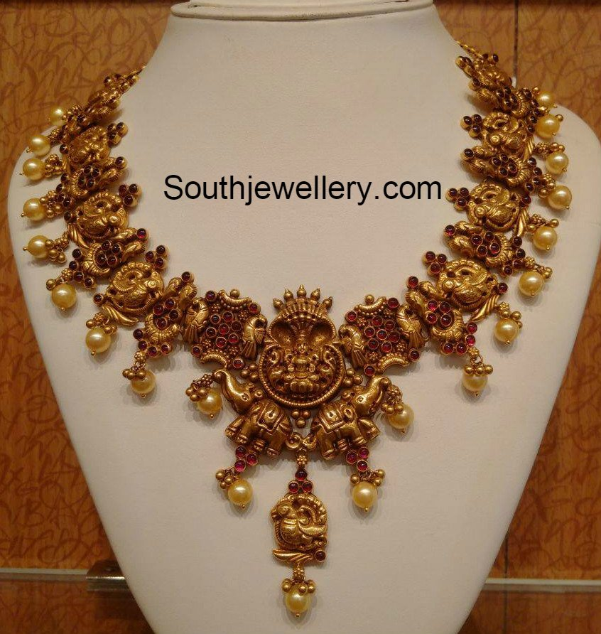 gold latest necklace models latest jewelry designs - Jewellery Designs