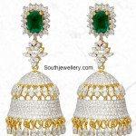 Dazzling Diamond Jhumkas