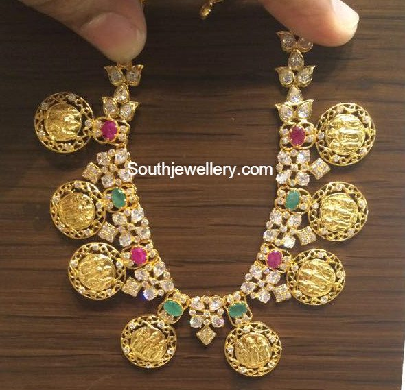 Ram Parivar Kasu Necklace Jewellery Designs
