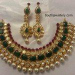 Emerald Polki Pachi Necklace