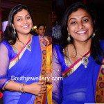Roja in Diamond Necklace and Jhumkas