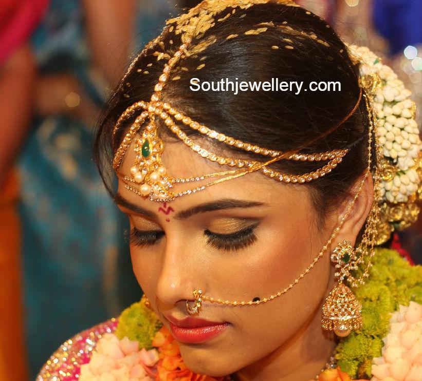 south_indian_bride_diamond_jhumkas