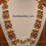 Meenakari Work South Sea Pearls Mala
