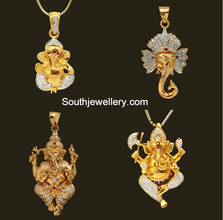 Diamond ganesh pendants jewellery designs diamondganeshpendants 18 carat gold ganesh pendants mozeypictures Gallery