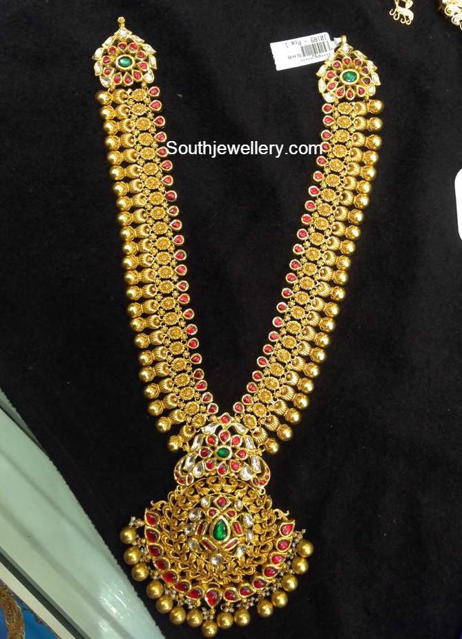 Antique Gold Haram Jewellery Designs