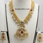 Gold Haram with Uncut Pacchi Pendant