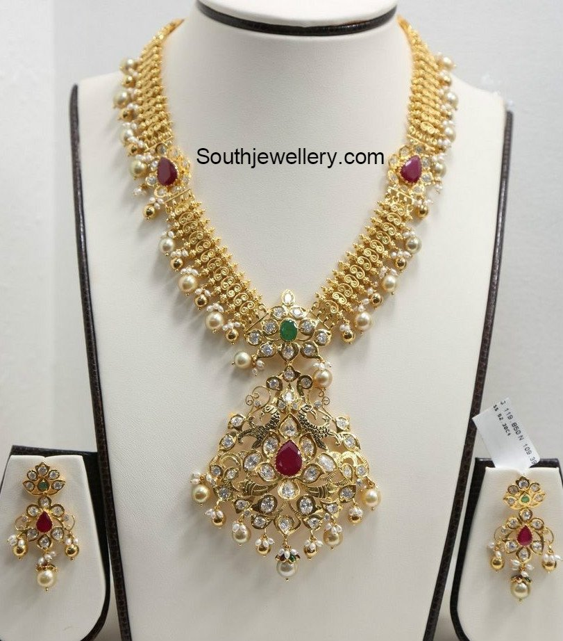 Uncut Diamond Pendant latest jewelry designs - Jewellery Designs