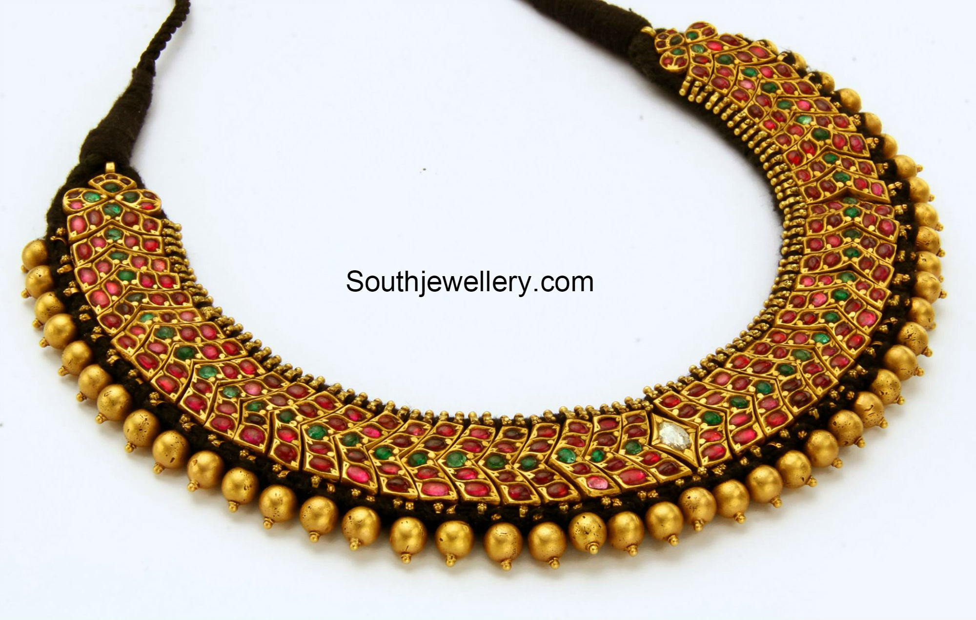 artificial finish fashion img jewellery plated set necklace antique glass ruby emerald gold mat