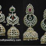 Latest Diamond Jhumkas