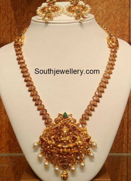 Antique Lakshmi Haram Jewellery Designs