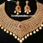 Floral Uncut Diamond Necklace
