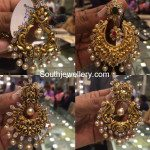 Beautiful Antique Gold Nakshi Chandbalis