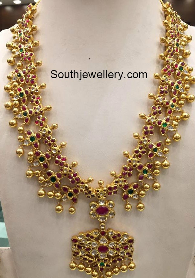 170 Grams Gold Haram Set Jewellery Designs