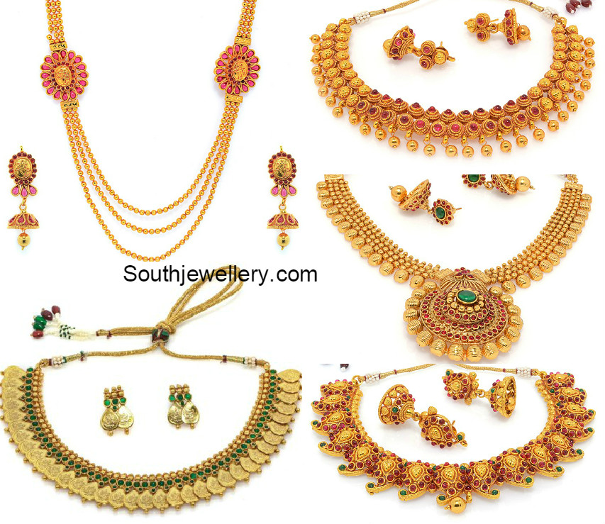 One gram gold necklace sets jewellery designs one gram gold necklace sets jul 10 2015 onegramgoldnecklacesets aloadofball Images