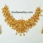 Antique Gold Lakshmi Peacock Necklace