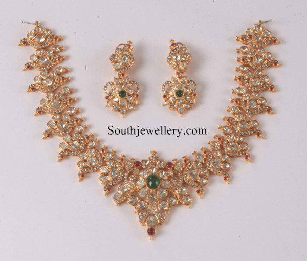 peacock_polkidiamond_necklace