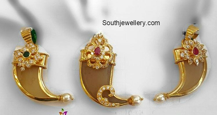 Tiger nail pendants jewellery designs prinsesfo Images
