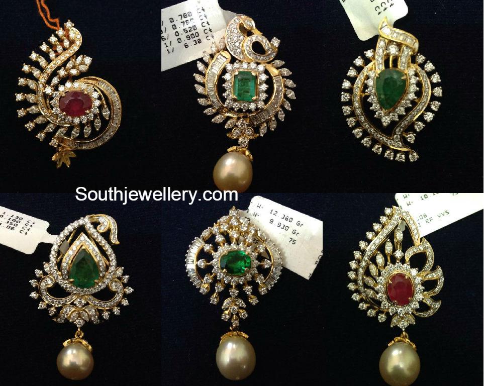 Gold diamond pendant designs