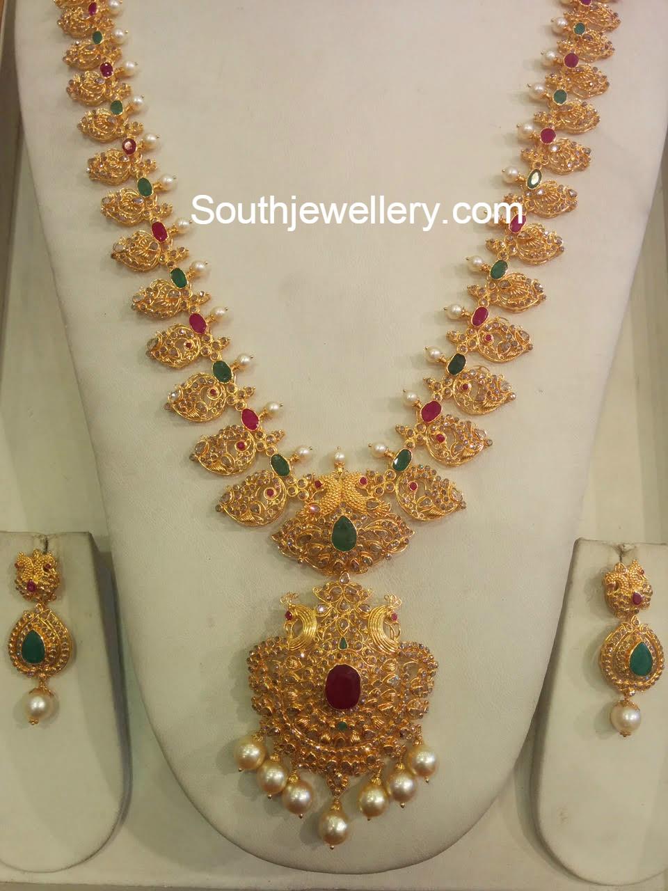 Uncut Mango Mala Jewellery Designs