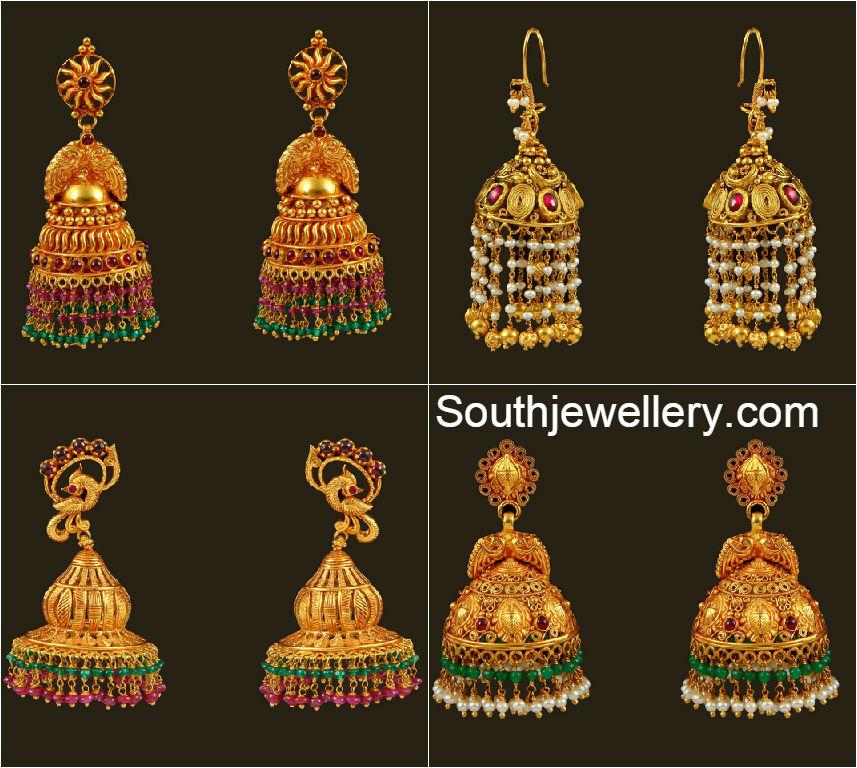 30 Grams Traditional Jhumkas Jewellery Designs