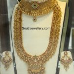 Antique Gold Choker and Lakshmi Kasu Haram