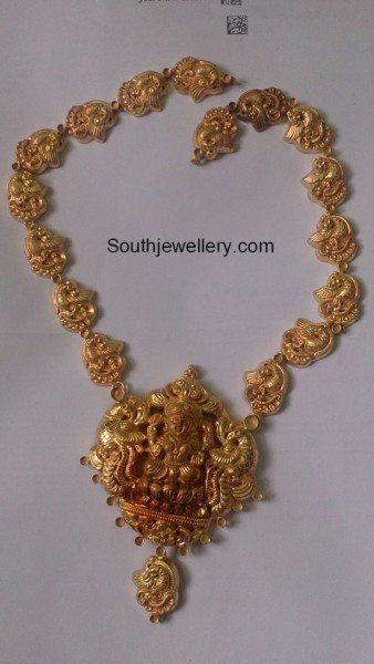 peacock_nakshi_necklace_lakshmi_pendant