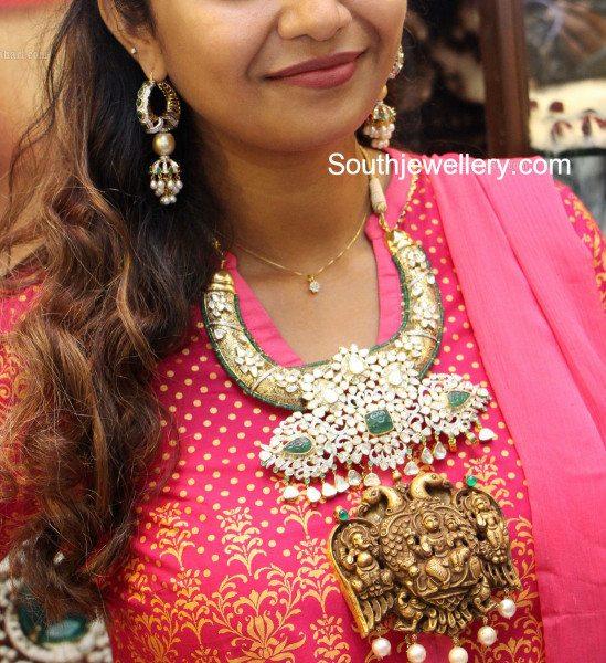 swathi_pmj_jewels_polki_haram
