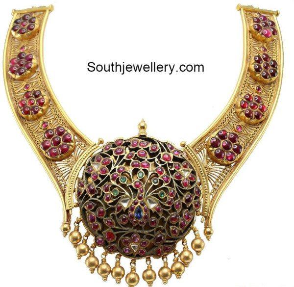 antique_necklace_peacock_pendant