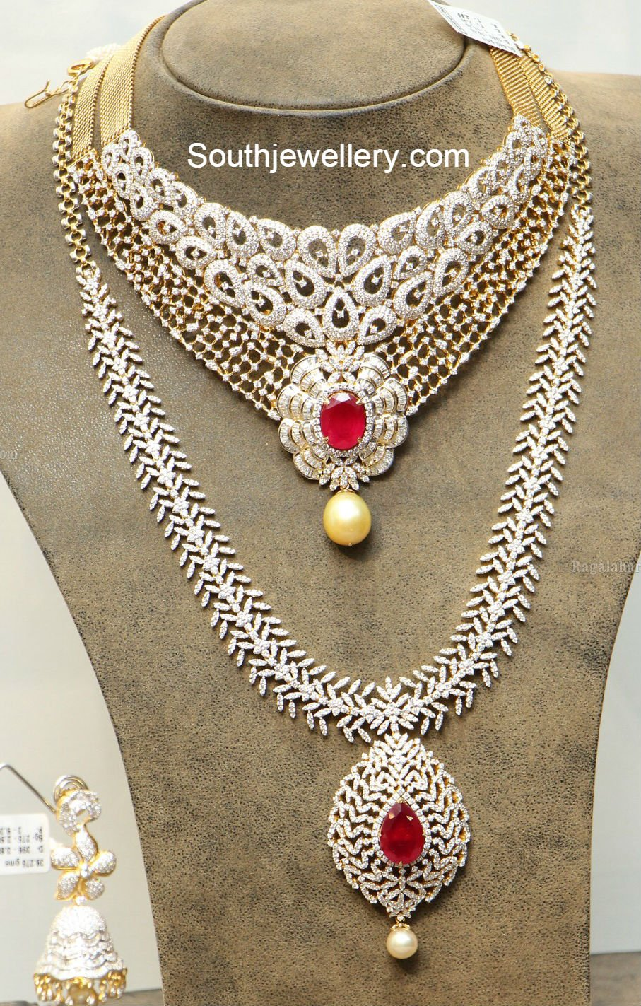 jewellery bridal necklace indian diamond designs
