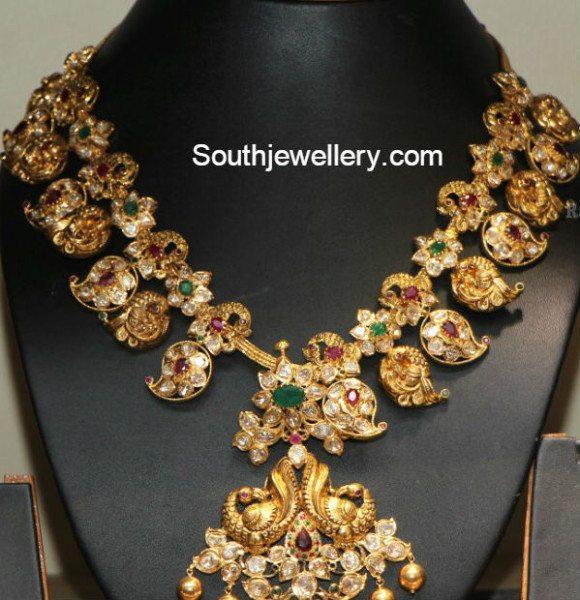 mango_peacock_polki_necklace