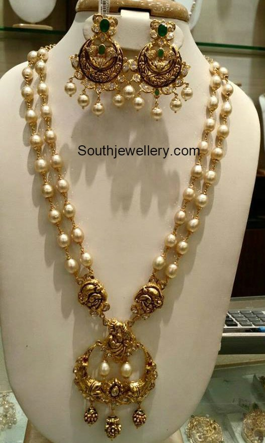 south sea pearl haram set jewellery designs