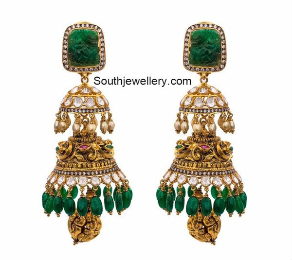 two_step_antique_jhumkas