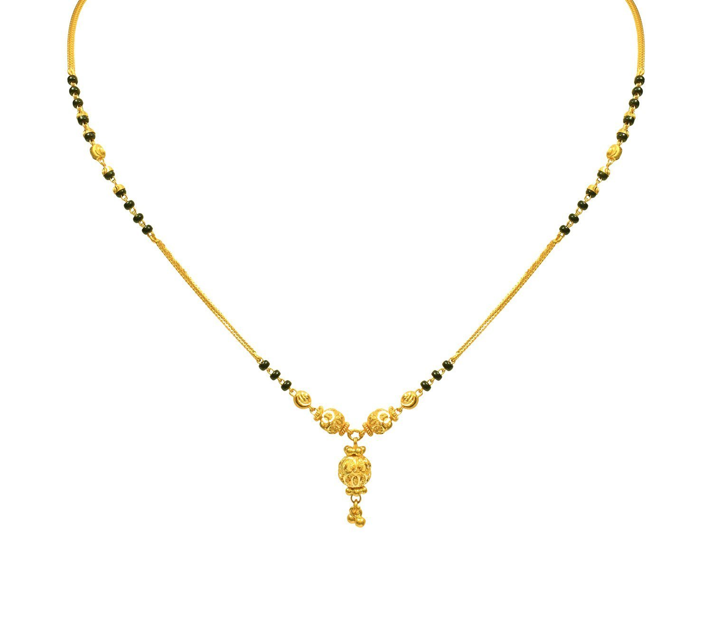 Simple Black Beads Mangalsutra - Jewellery Designs