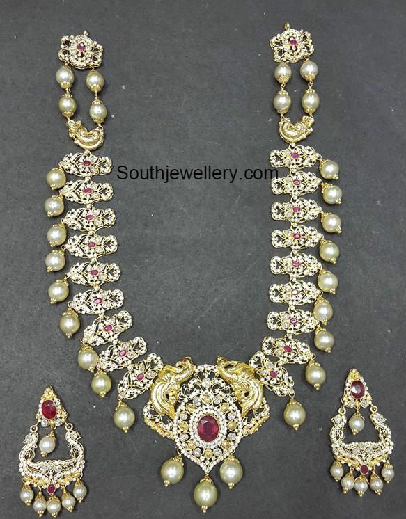 Uncut Pacchi Haram Set Jewellery Designs
