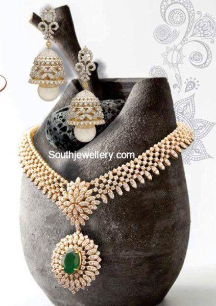 diamond_necklace_jhumkas