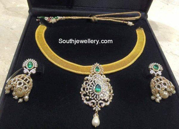 gold_chain_cz_pendant+set