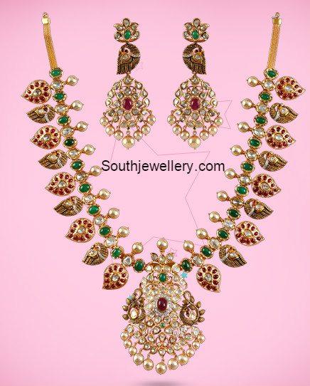 peacock_mango_antique_necklace