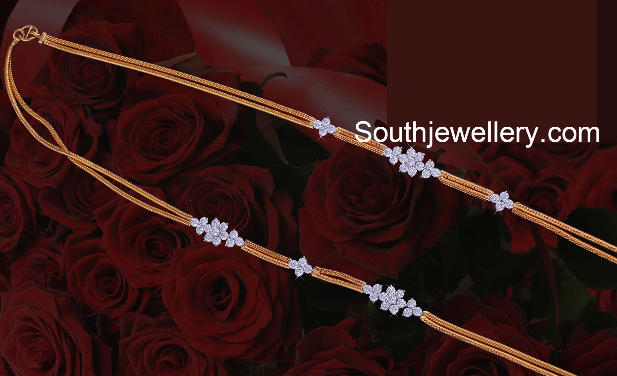 Diamond kasulaperu with pendant - Thali Chain Designs Latest Jewelry Designs Jewellery Designs
