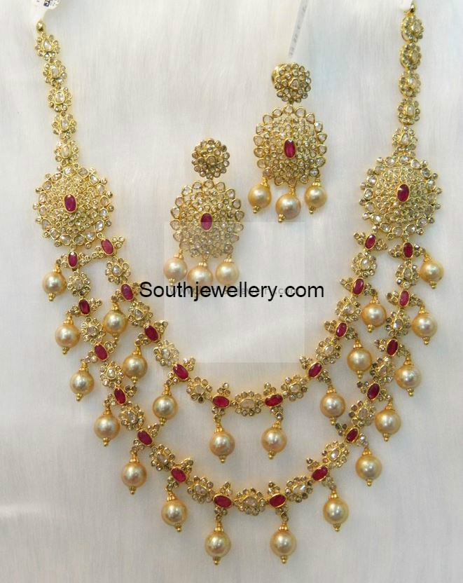 Two Step Uncut Diamond Necklace - Jewellery Designs