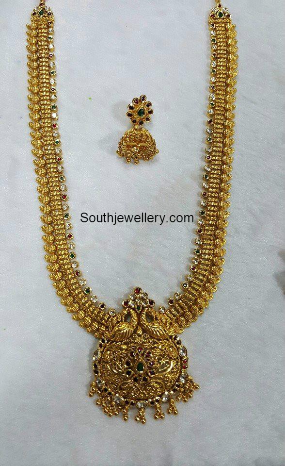 antique gold mango haram jewellery designs