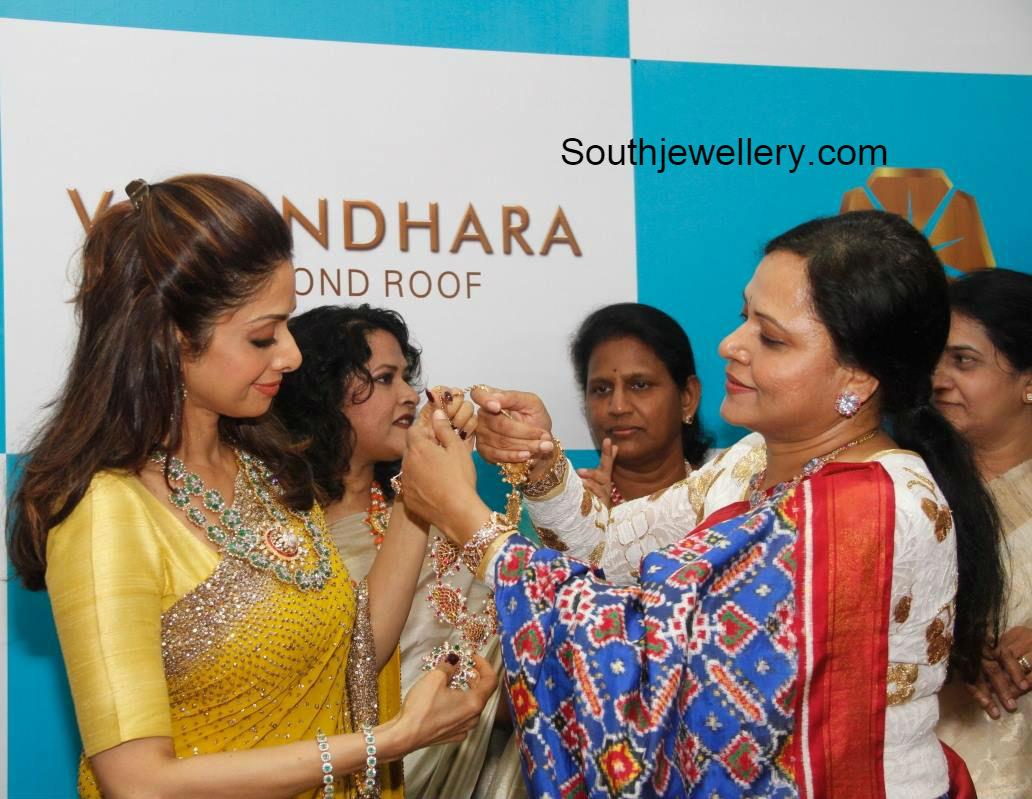 Sridevi Kapoor Inaugurates Vasundhara Exotic Jewellery In