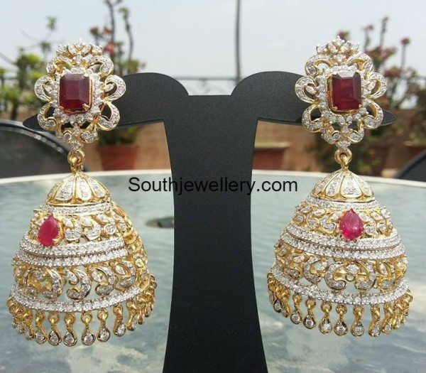 diamond jhumkas models