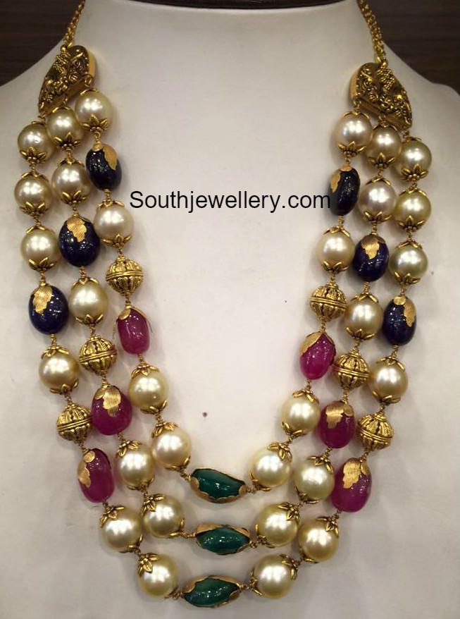 South Sea Pearl Mala Indian Jewellery Designs