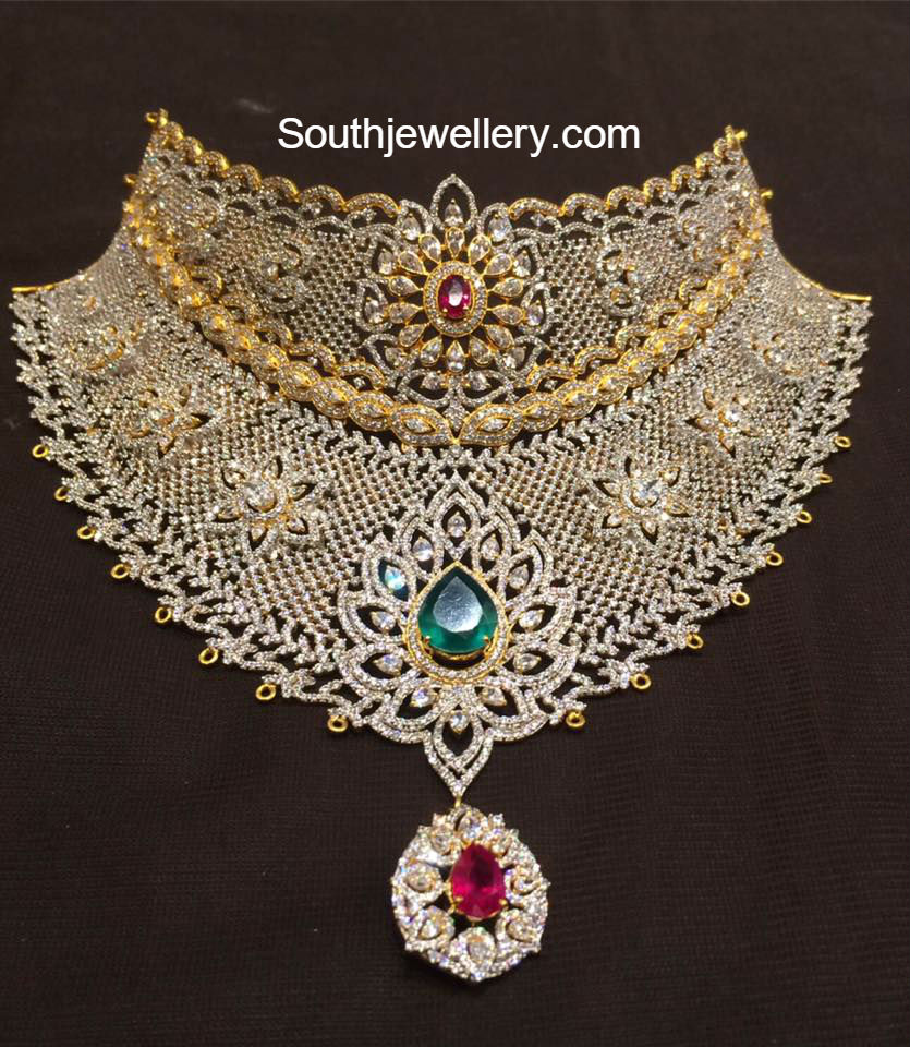 Diamond Imitation Cz Bridal Choker  Jewellery Designs. Schoolhouse Pendant. Jewellery Gemstone. Enamelled Earrings. Fashionable Necklace. Inscription Rings. Ear Rings. Jewelry Anklet. Coloured Diamond Rings