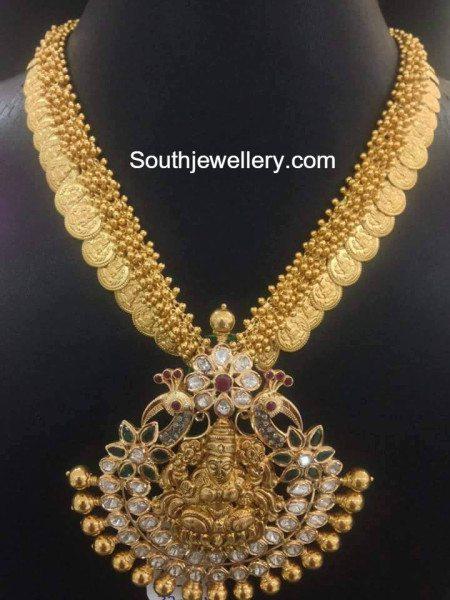 kasu_necklace_lakshmi_pendant