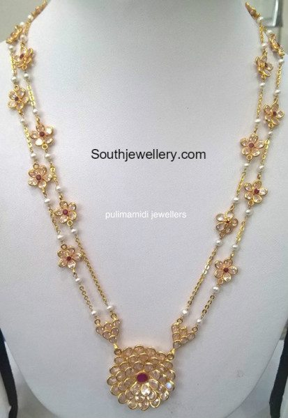 Light Weight Uncut Pacchi Haram Jewellery Designs